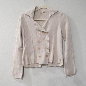 Anthropologie Moth Cardigan Sweater Beige Small